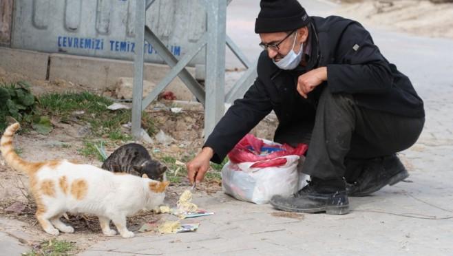 16 yıldır sokak hayvanlarını besliyor