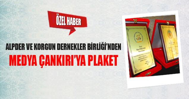 Medya Çankırı'ya Teşekkür Plaketi!