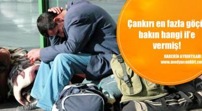Çankırı en fazla göçü Ankara'ya verdi