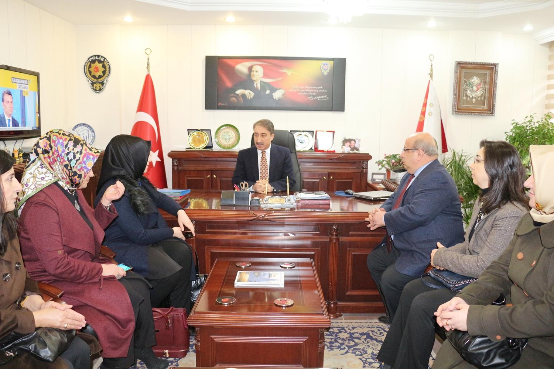 AK Parti İl Yönetimi Emniyet Müdürüne taziye ziyaretinde bulundu