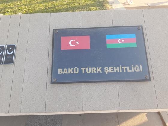Bakü-Türk Şehitliğinde  19 ÇANKIRILI ŞEHİT