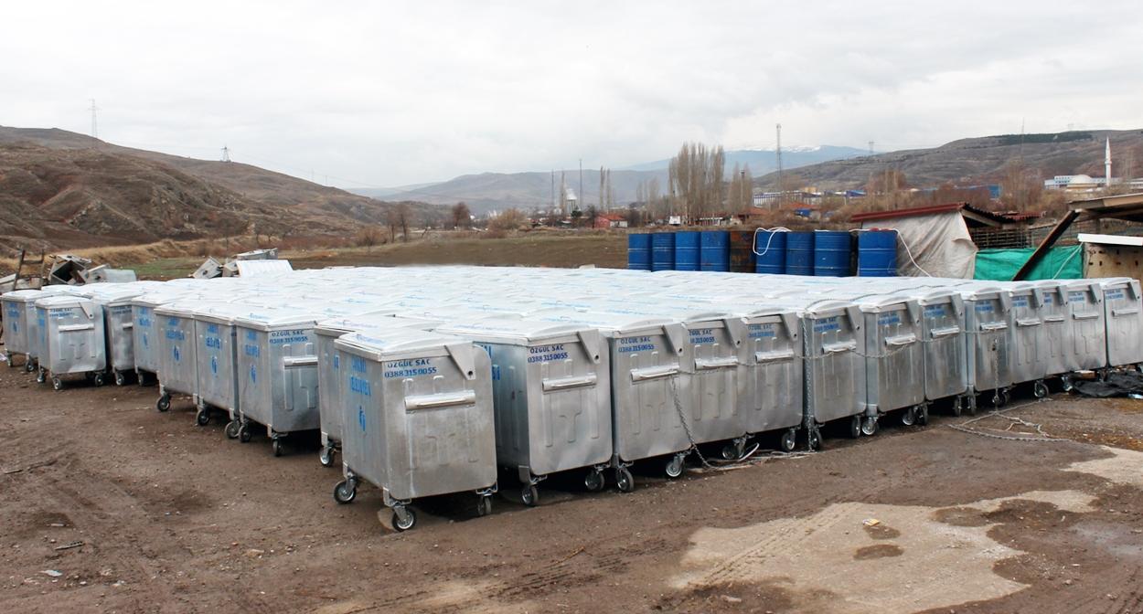 Çankırı Belediyesi 400 Adet Çöp Konteyneri Aldı