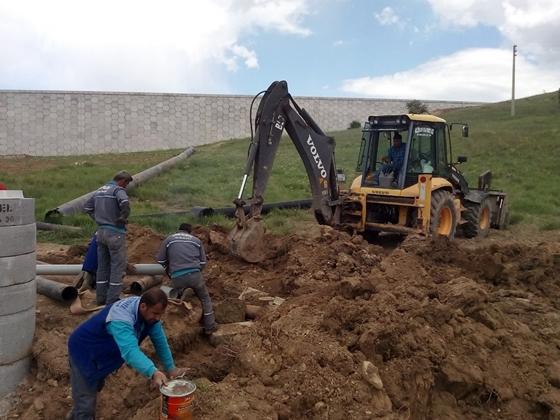Çankırı kuzey çevre yolunda deplase çalışmaları devam ediyor