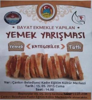Cumhuriyet Anadolu Lisesi Bayat Ekmekten Yapılan Yemek Yarışması Düzenliyor