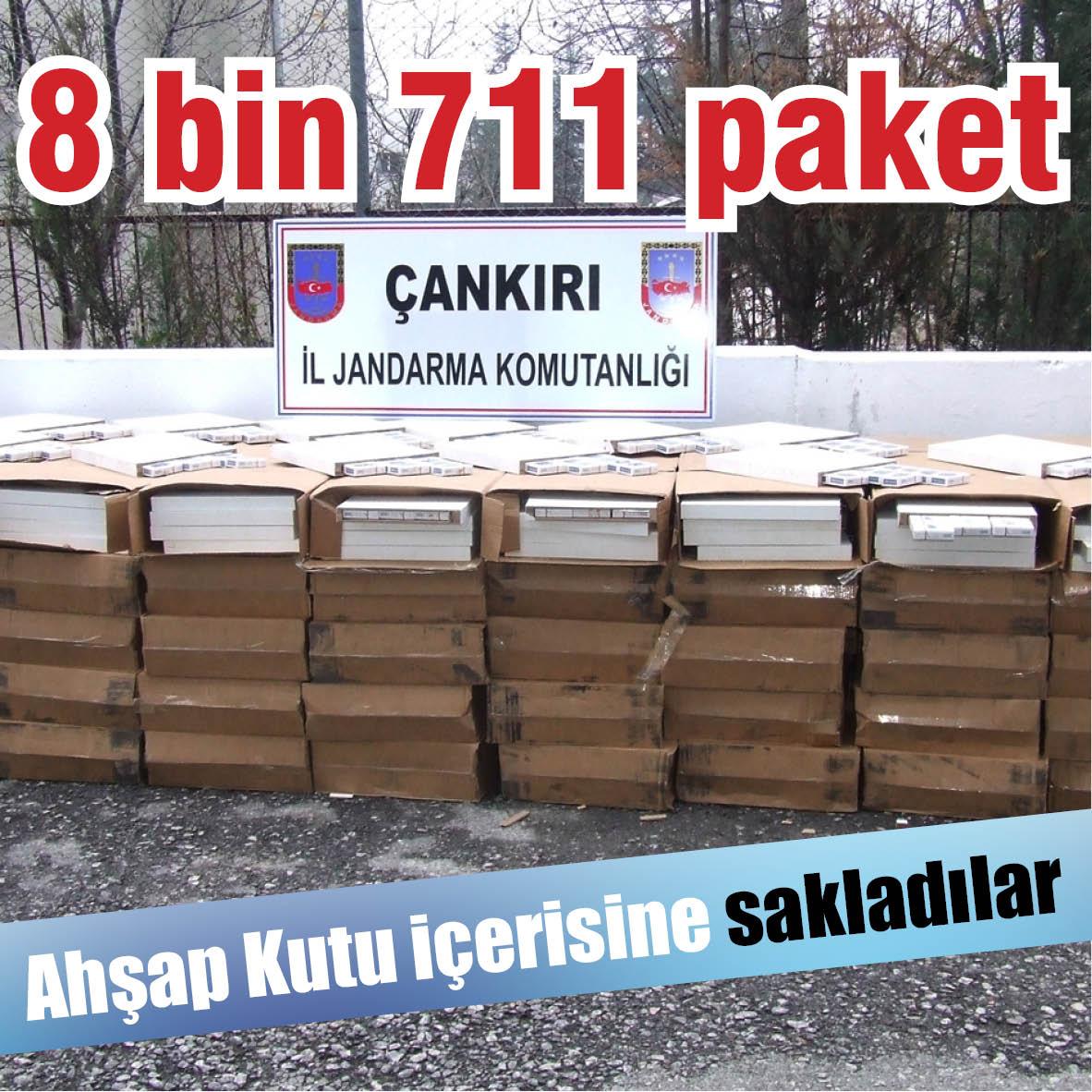 8 bin 711 paket kaçak sigara ele geçirildi