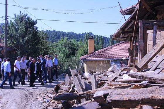 Vali Aktaş, Müsellim Köyünde  incelemelerde bulundu