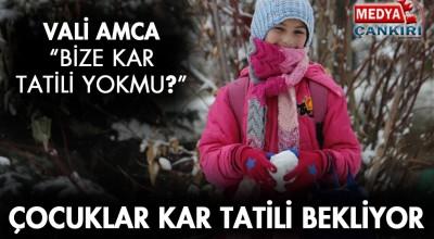 Çankırı'da Öğrenciler Kar Tatili İstiyor